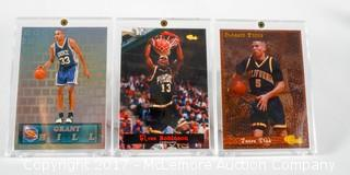 3 1994 Classic Brand Basketball Cards And Including Grandhill Glenn Robinson And Jason Kidd Framed In Lucite