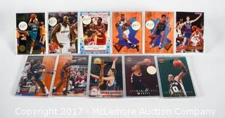11  Various Basketball Cards From NBA Hoops Skybox Fleer Brands