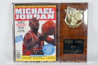 Signed Michael Jordan Wall Hanging Fanzine