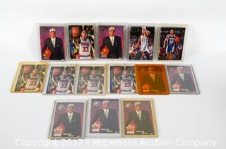 Fourteen Assorted Upper Deck, Classic And Topps Grant Hill Basketball Cards In Plastic Sleeves