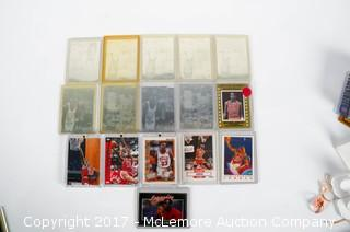 An Assortment Of 16 Michael Jordan Basketball Trading Cards