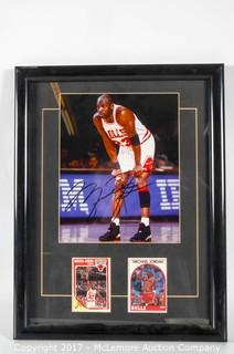 Framed 8 X 10 Color Glossy Photograph Signed By Michael Jordan