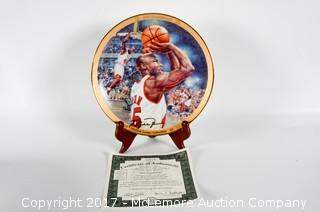 "A Bradford Exchange Collectors Plate Of The Limited Edition Series Collection Of ""The Comeback""  Featuring Michael Jordan"