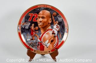 Bradford Exchange Limited Edition Collectors Plate  Featuring Michael Jordan