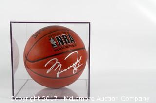 Spalding Official NBA Indoor/Outdoor Basketball Signed By Michael Jordan
