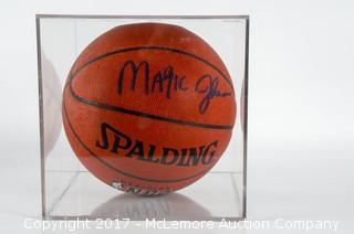 Spalding Official NBA Indoor/Outdoor Basketball Signed By Magic Johnson