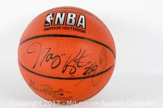 Signed Spalding Official NBA Indoor/Outdoor Basketball