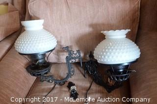 2 Matching Light Fixtures with Globes