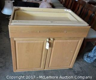 Wooden Cabinet with Top Drawer