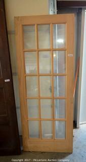 15 Pane Uncut/Unused Exterior Door