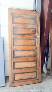 Antique 6 Panel Wooden Door