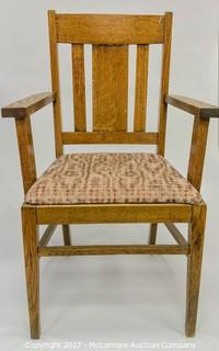 Oak Slat Back Chair