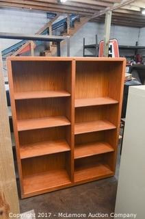Encore Wood Bookshelf with 3 Wood Rolling Printer/Euipment Stands