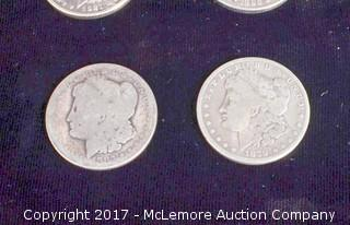 14 Morgan Silver Dollars Late 1800's and Early 1900's