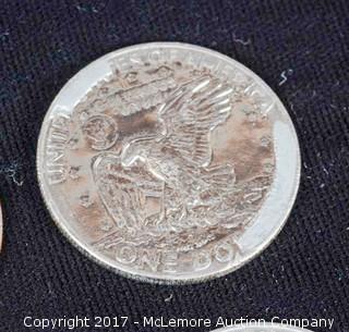 23 - 1970's Eisenhower Silver Dollars