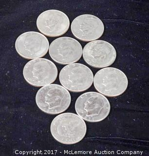 11 - 1971 Eisenhower Silver Dollars