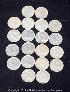 20 - 1968 D Kennedy Liberty Silver Half Dollars