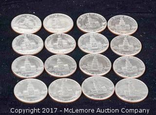 16 - 1976D Bicentennial Kennedy Half Dollars
