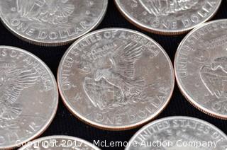 23 - 1972 Eisenhower Silver Dollars