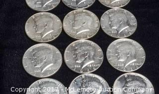 17 - 1966 Kennedy Silver Half Dollars