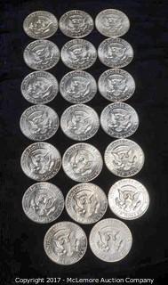 20 - 1964 Kennedy Silver Half Dollars