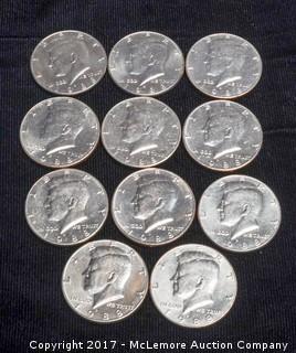 11 - 1988 Kennedy Half Dollars