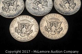 20 - 1971 D Liberty Kennedy Half Dollars