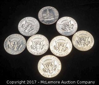 8 - Liberty Kennedy Half Dollars