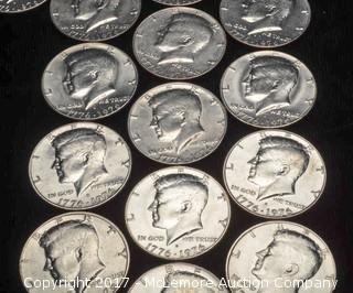 19 - 1976 D Liberty Kennedy Half Dollars
