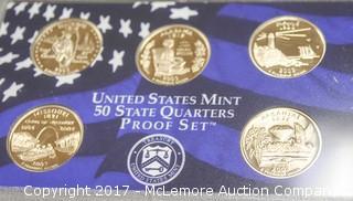2003 United States Mint 50 State Quarters Proof Set of Illinois, Maine, Missouri, Alabama and Arkansas
