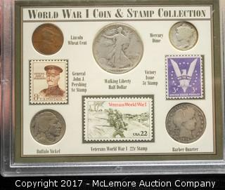 World War I Coin & Stamp Collection Set