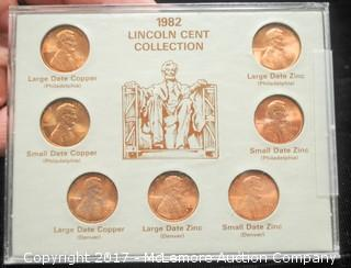 The Historical Thirteen Colony Coin Collection and 2 Lincoln Cent Collections Sets from 1982