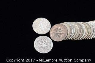 21 - 1940's Liberty Silver Dimes
