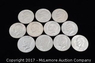 11 - 1972 Eisenhowser Liberty Silver Dollars