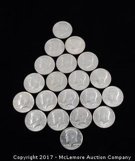 20 - Kennedy Liberty Bi-Centenial Half Dollars 1776-1976