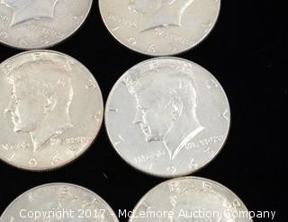9 - Kennedy Liberty 1965 Silver Half Dollars