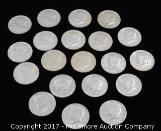 20 - Kennedy Liberty 1967 Half Dollars
