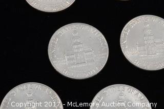 20 - Kennedy Liberty 1976 D Half Dollars
