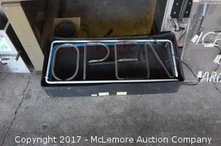 Fallon Fluorescent Open Sign