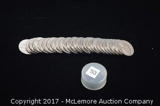 27 - 1953 Jefferson Nickels