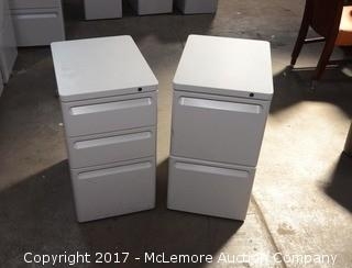 Pair of Herman Miller Filing Cabinets