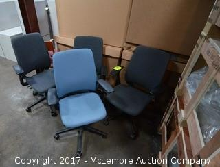Four Steelcase Computer Chairs
