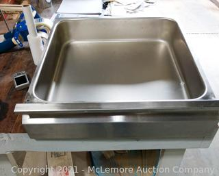 """Advance Tabco Model # SS2020 20"""" x 20"""" Stainless Steel Drawer"""