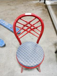 Red Metal Frame Chair