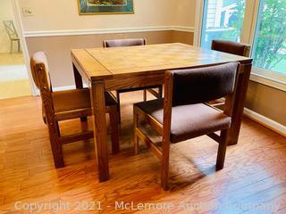 Vintage Wambold Parquet Dining Table