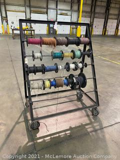 Wiring Spools on Rack with Casters