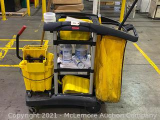 Commercial Cleaning Cart by Rubbermaid