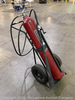 Large Fire Extinguisher on Dolly