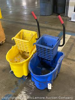 Pair of Mop Buckets by Rubbermaid