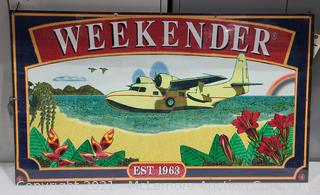 Wooden Weekender Sign with Plexiglass Cover